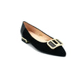 women's pointed toe flats with buckle