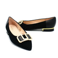 women's flat shoes in black color