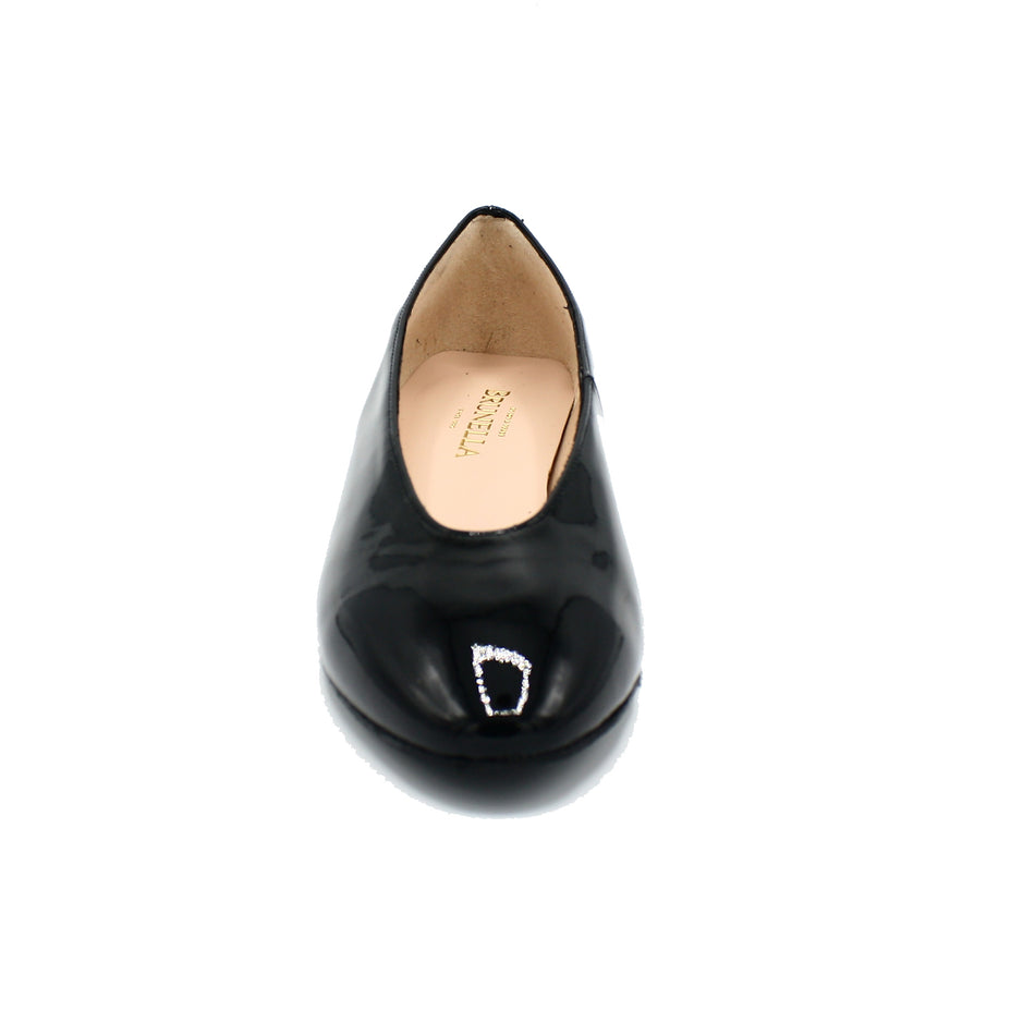 black color pointed toe shoes