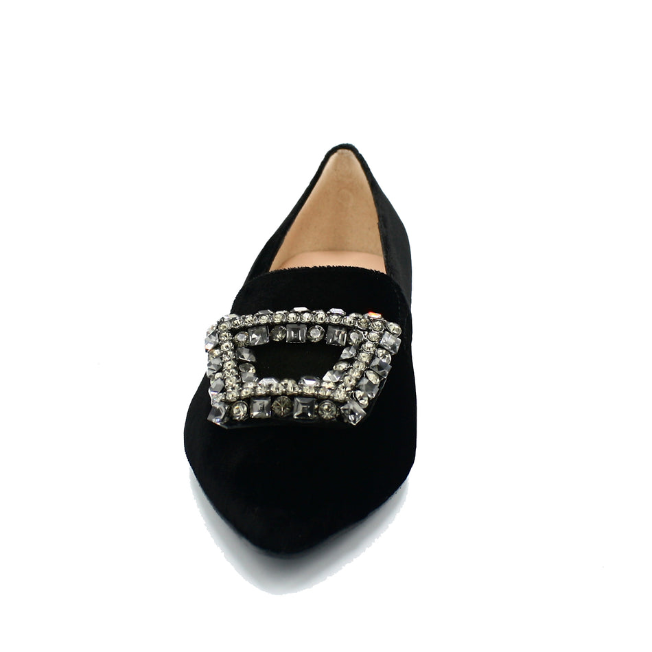 women's flat shoes with buckle on top