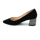 Women block heel pumps