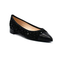 Women low block heel pointed shoes