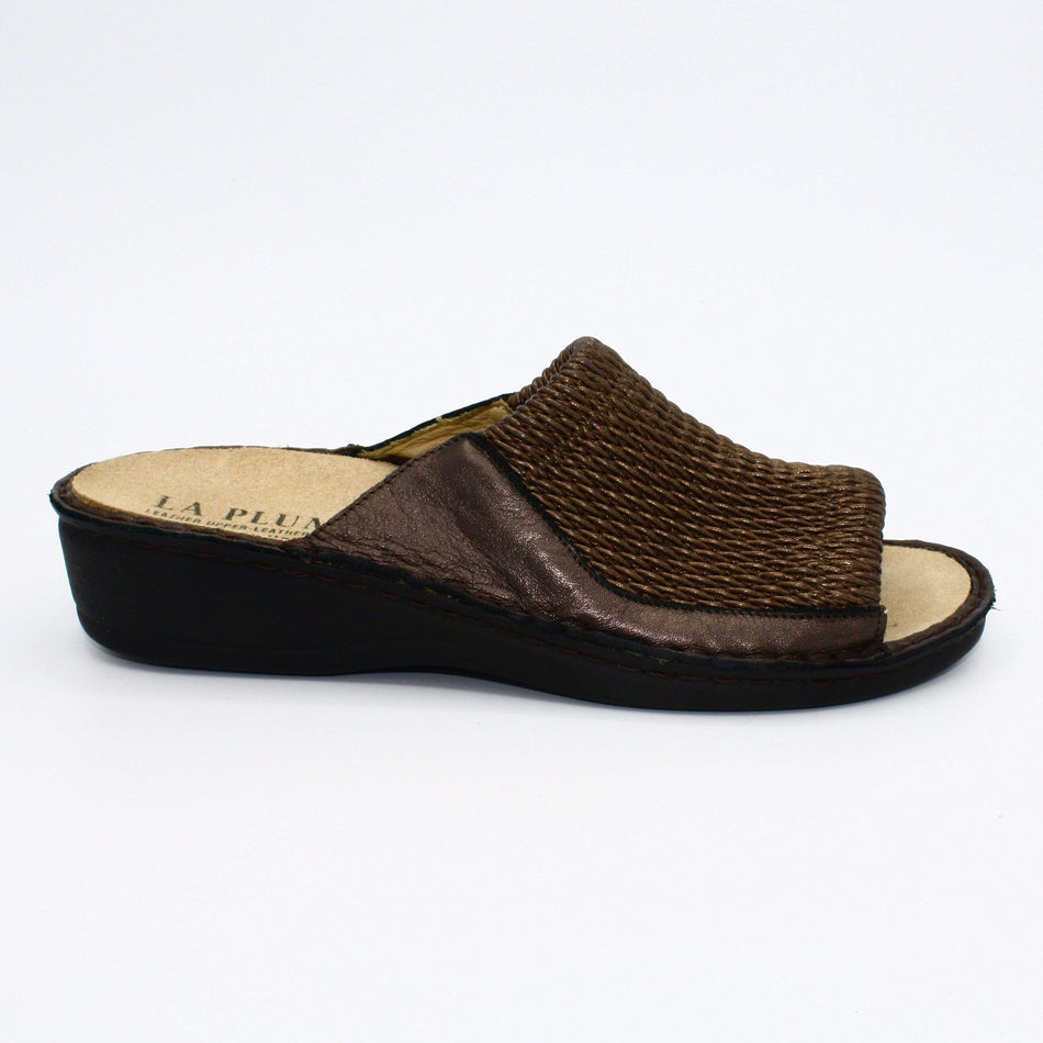 La Plume Mules 36 / Bronze Leather La PLume Stretch