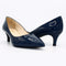 Navy patent leather pumps 2 inch heels