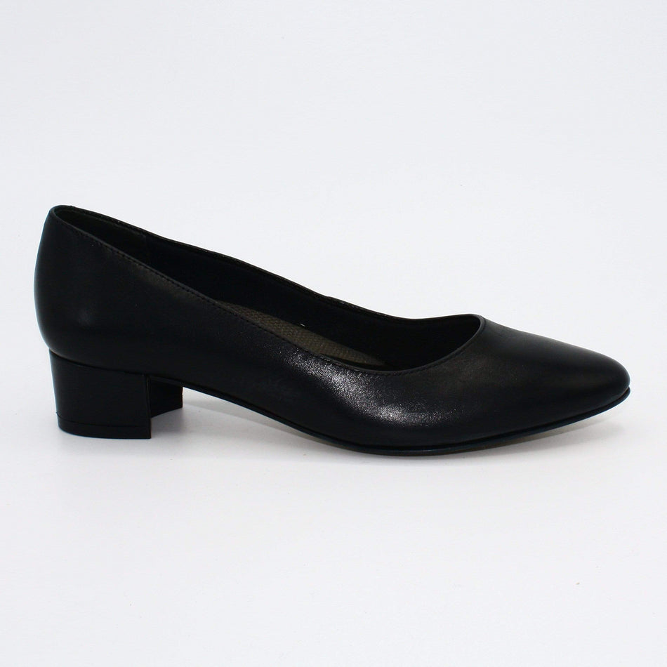Walking Cradles Pumps 5 / Black Leather Walking Cradles Heidi