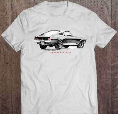 Tee-Shirt dessin Ford Mustang