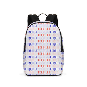 Terrilli Name Large Backpack (White/Red/Blue)