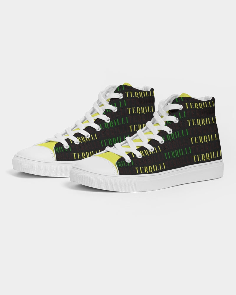 Terrilli Men's Hightop Canvas Shoe (Black/Yellow)