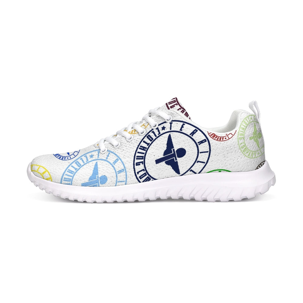 Terrilli Circle Logo White Athletic Shoe