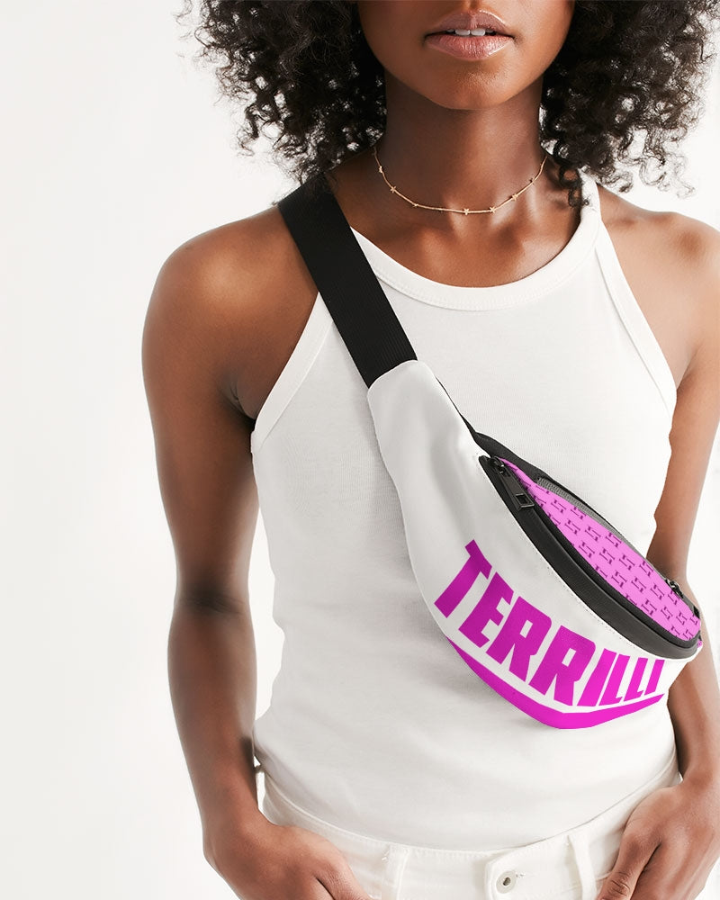 Terrilli T Pattern Crossbody Sling Bag (Pink)