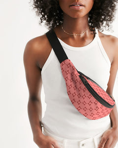 Terrilli Quad T Peach Crossbody Sling Bag