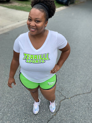 Terrilli Sports Short Set (White/Lime Green)