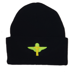 Black/Lime Green/Yellow Logo Skully