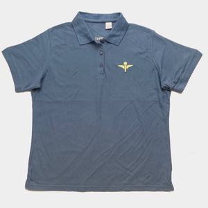 Women's Polo (Light Blue/ Yellow)