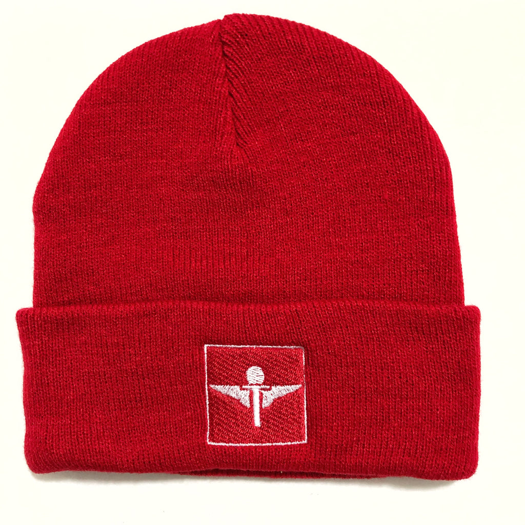 Red  Square Logo Skully