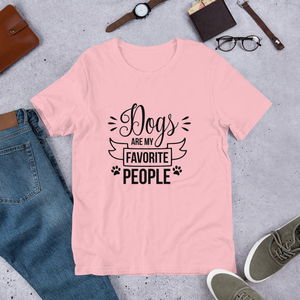 Dogs Are My Favorite People Unisex T-Shirt
