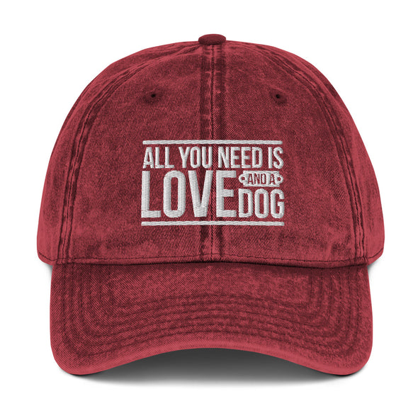 All You Need is Love and a Dog Vintage Hat