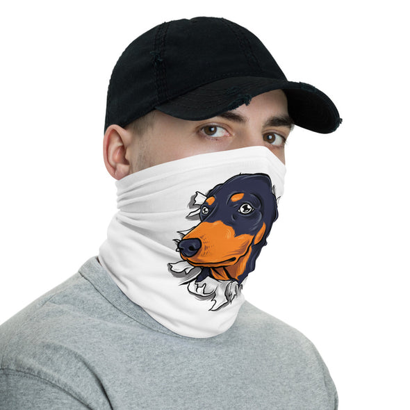 Dachshund Dog Face Mask & Neck Gaiter