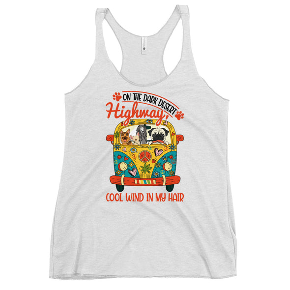 On the dark desert highway Women's Racerback Tank