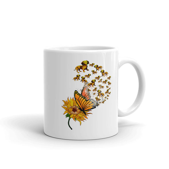 Sunflower Dog Coffee Mug