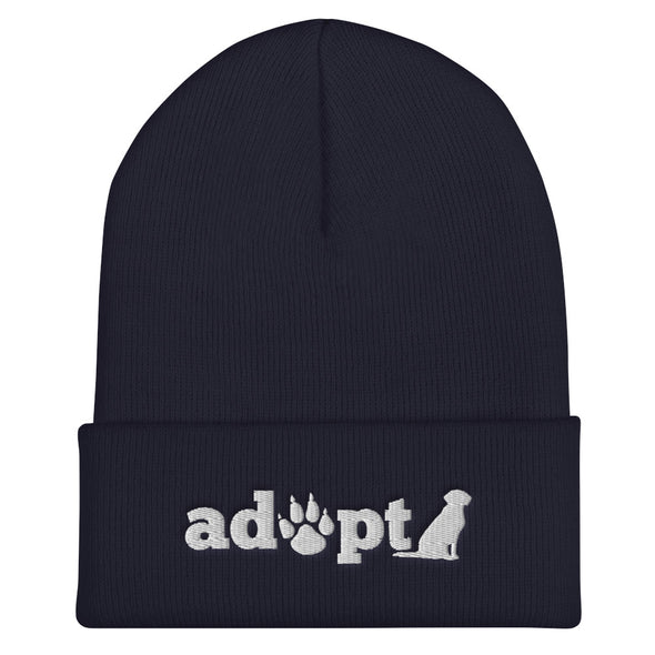 Adopt Cuffed Beanie for Dog Lovers