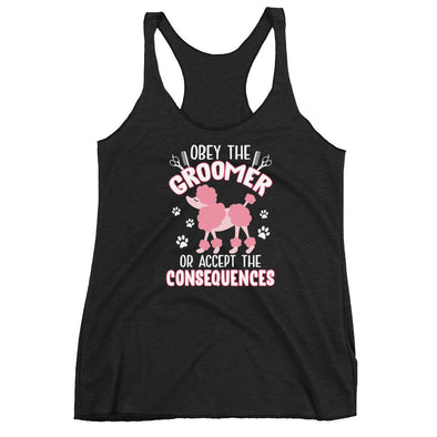 Obey The Groomer Or Accept The Consequences Racerback Tank