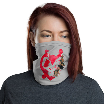 Red Heart Dogs Face Mask & Neck Gaiter