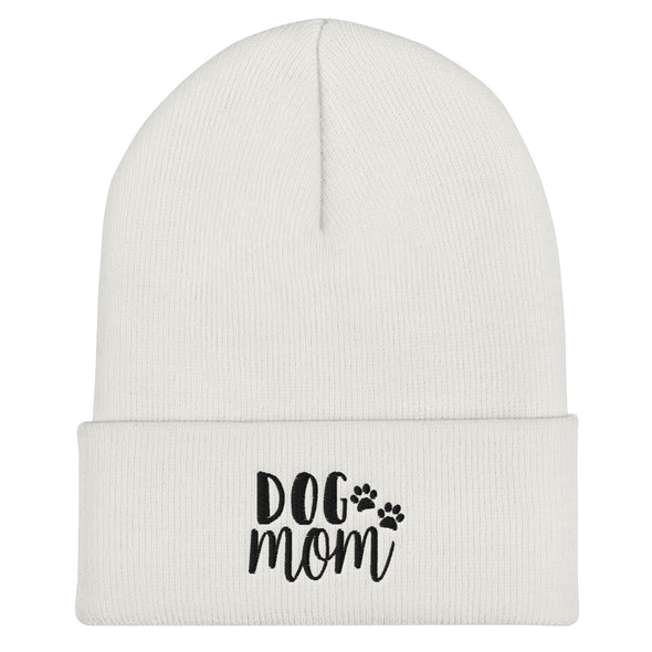 Dog Mom Cuffed Beanie