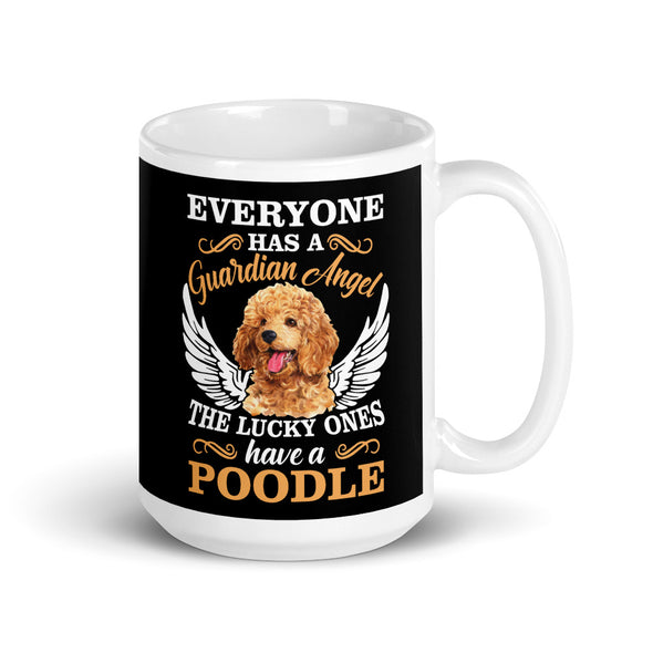 Guardian Angle Poodle Dog Coffee Mug