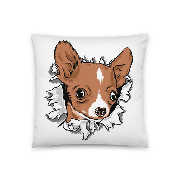 Chihuahua Dog Hole - Dog Throw Pillow