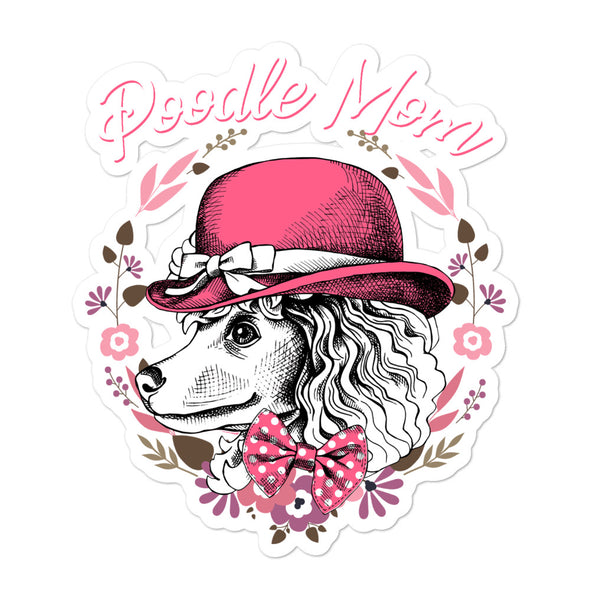 Poodle Mom Bubble-free Dog stickers