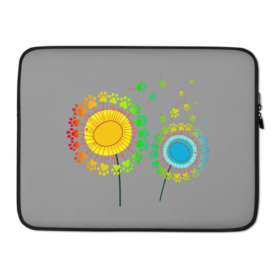 Dog Dandelion Laptop Sleeve