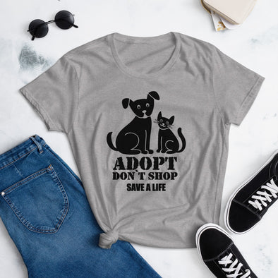Adopt Don't Shop Save a Life Dog Adoption t-shirt