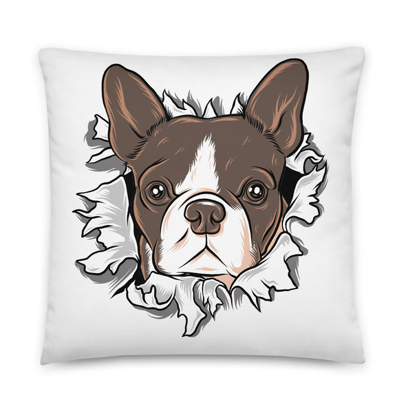 Boston Terrier Dog Throw Pillows