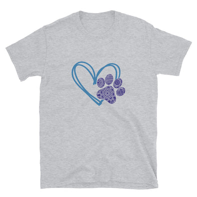 Paw Heart Short-Sleeve Unisex T-Shirt