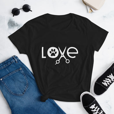 Paw Love Dog Groomer T-Shirt for Women