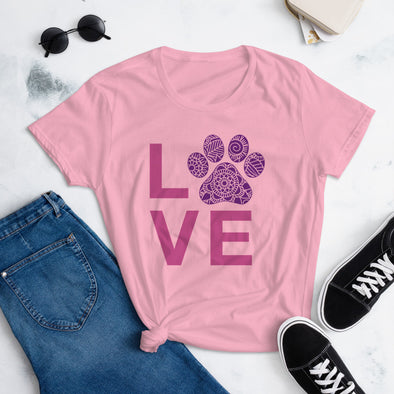 Paw Love Mandala T-Shirt for Women