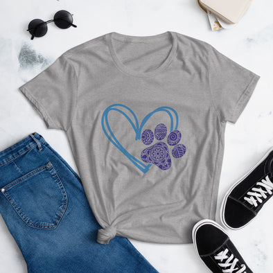 Paw Heart T-Shirt for Women