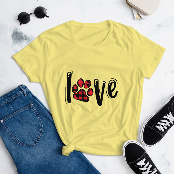 Paw Love Valentine's Day T-Shirt for Women