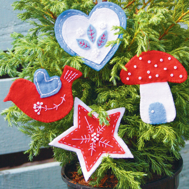 How to make your own Christmas felt decorations