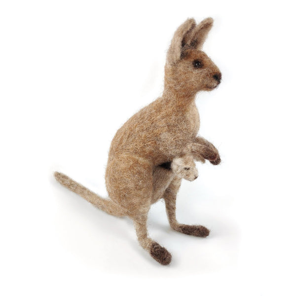 Needle Felted Kangaroo and Joey