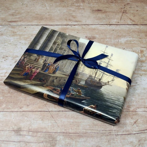 How to wrap Christmas presents in calendar pages