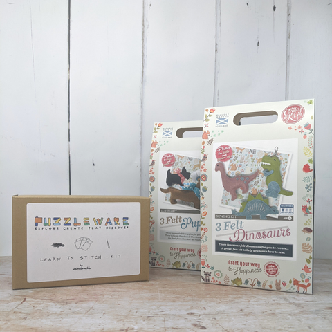 Prize bundle with Almaborealis learn to stitch kit and The Crafty Kit Company sewing kits