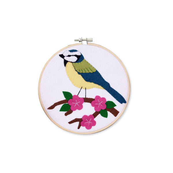 The Crafty Kit Company Blue Tit Felt Appliqué Kit