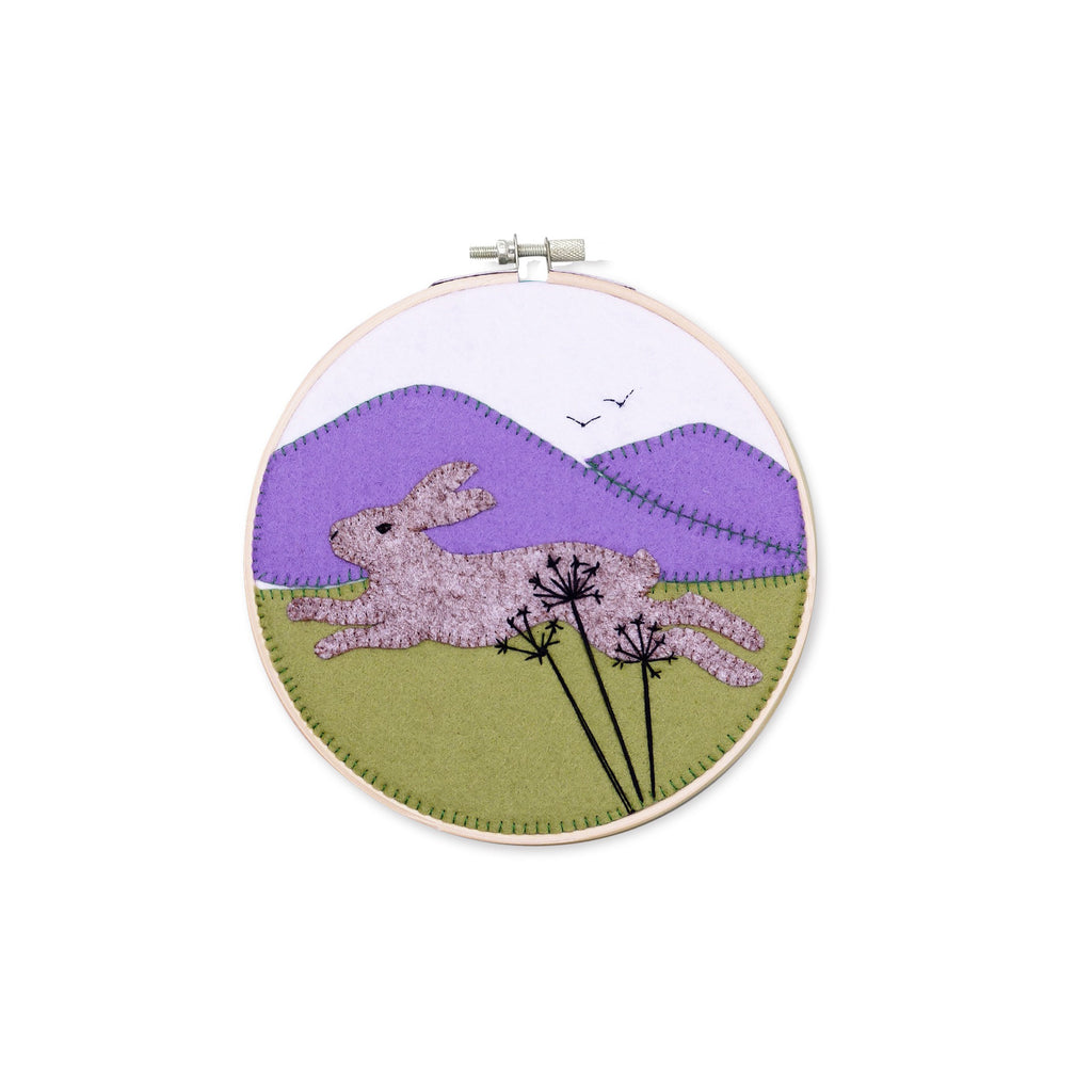 The Crafty Kit Company Running Hare Felt Appliqué Kit