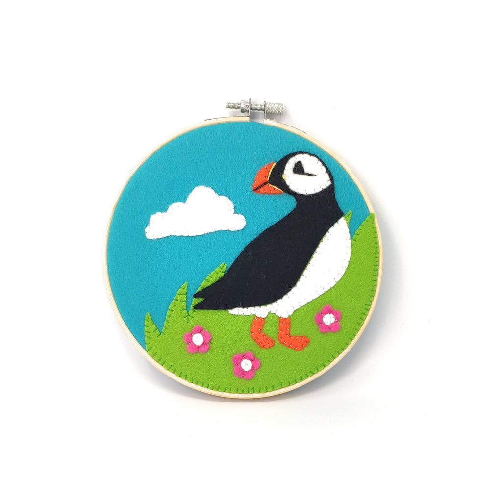 The Crafty Kit Company Scottish Puffin Felt Applique Kit