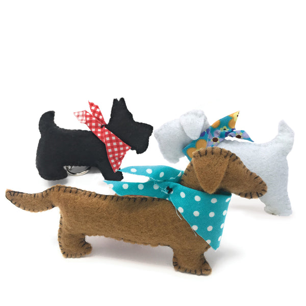 The Crafty Kit Company Three Felt Puppies Sewing Kit