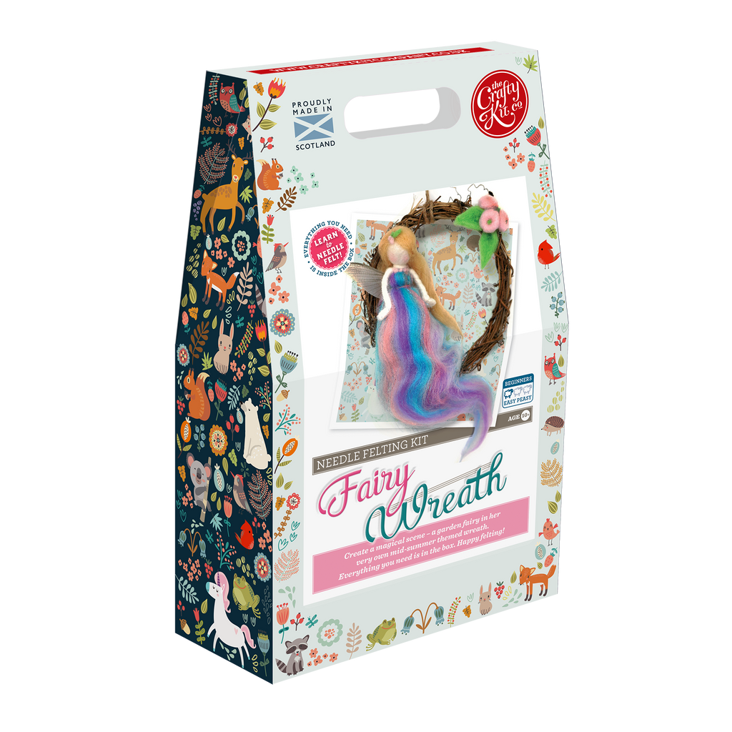 The Crafty Kit Company Fairy Wreath Needle Felting Kit Box