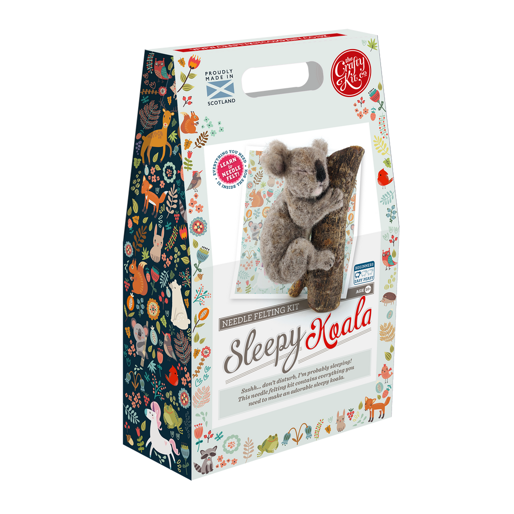 The Crafty Kit Company Sleepy Koala Needle Felting Kit  Box
