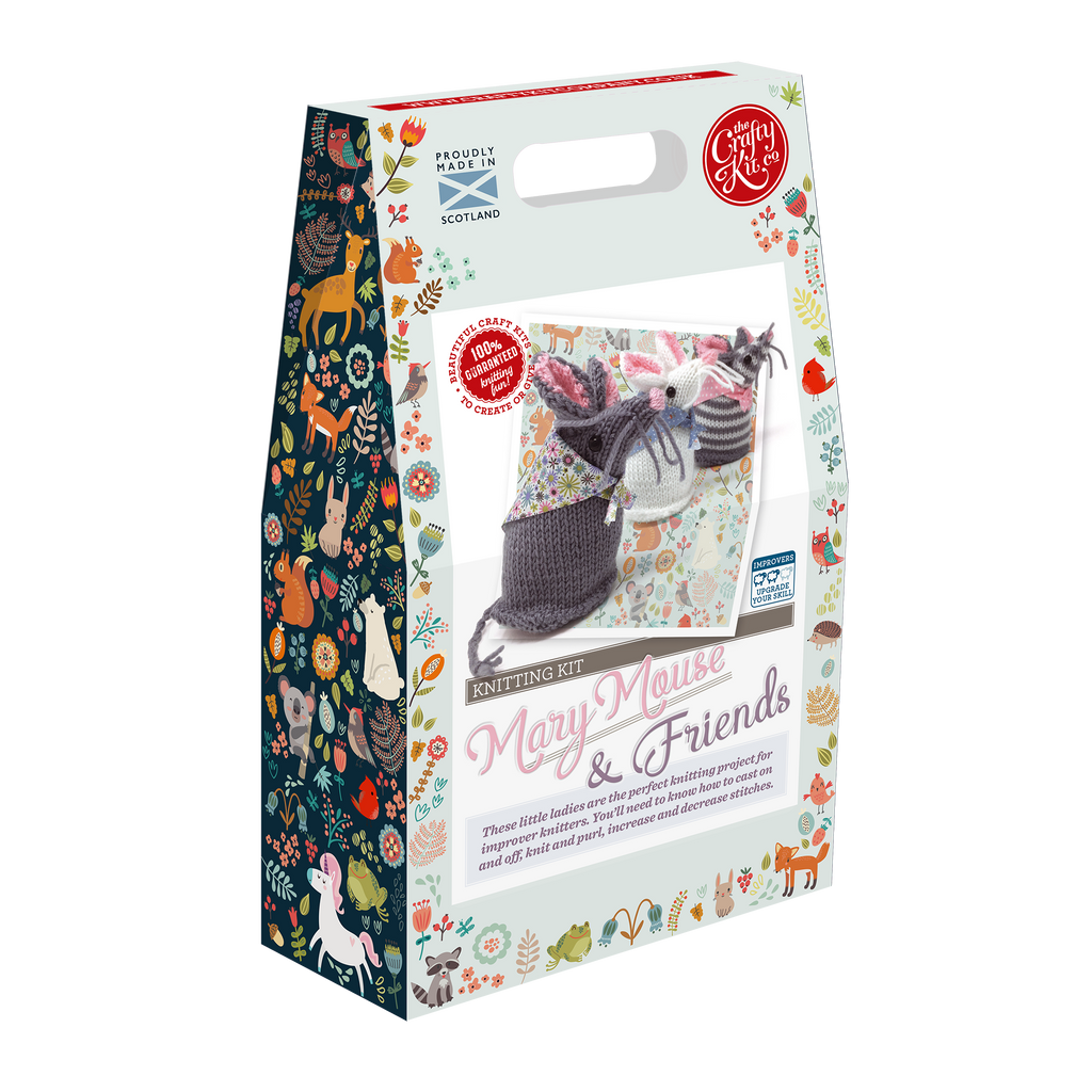 The Crafty Kit Company Mary Mouse & Friends Knitting Kit Box